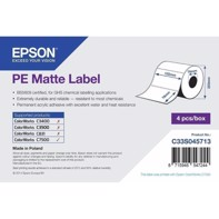 PE Matte Label - utstansede etiketter 102 mm x 76 mm (1570 labels)