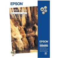 Epson Matte Paper Heavy Weight 167 g, A4 - 50 ark | C13S041256
