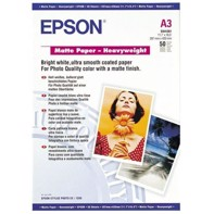 Epson Matte Paper Heavy Weight 167 g, A3 50 ark | C13S041261