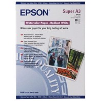 Epson Watercolor Paper Radiant White 188 g/m2, A3+ - 20 ark | C13S041352