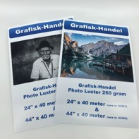 "Grafisk-Handel Photo luster 260 gram - 44"" x 40 meter"