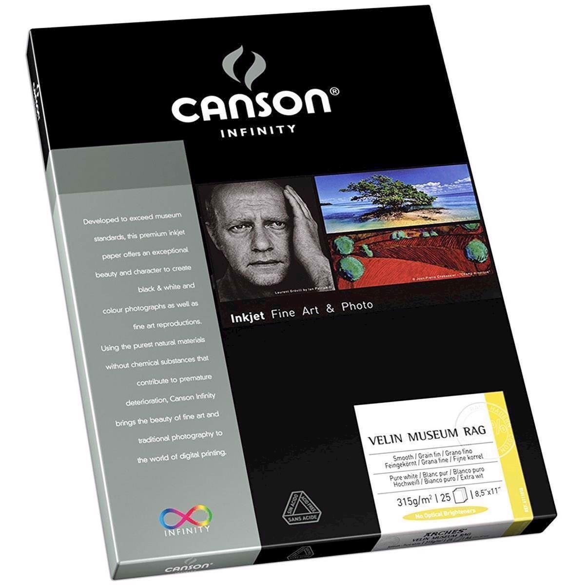 Canson Velin Museum Rag 315 g/m² - A3+, 25 ark